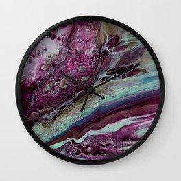 Intergalactic Wine Date Wall Clock