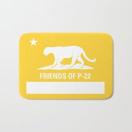 P-22 Mountain Lion Yellow Bath Mat
