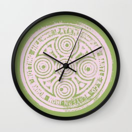 notting hill: olive & ballet pink Wall Clock