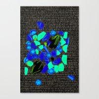 vegetables Canvas Prints featuring Vegetables by Hannah Baklien