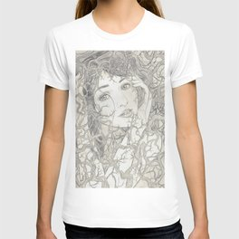 Girl in vines T-shirt