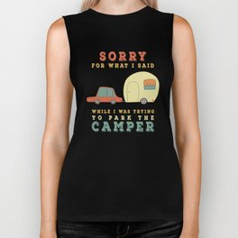 Camping Camper - Sorry For What I Said Vintage Retro Biker Tank