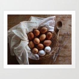 Farmhouse Fresh Eggs Art Print