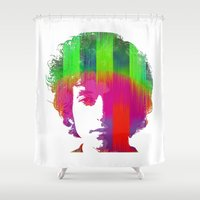bob dylan Shower Curtains featuring Dylan by Kip Sikora