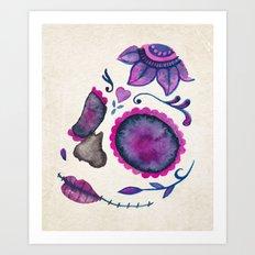 Sugar Skull Head Art Print