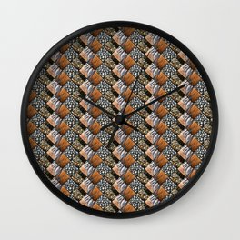 Wyandotte Feather Pattern Diamonds Wall Clock