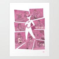 Super Mom Art Print