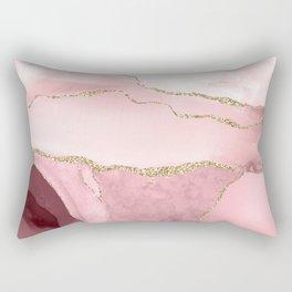 Blush Marble Art Landscape Rectangular Pillow