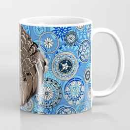 pangolin mandala blue Coffee Mug