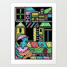 The street Art Print