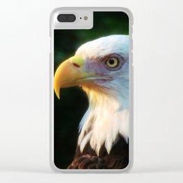 Bald Eagle Portrait Clear iPhone Case