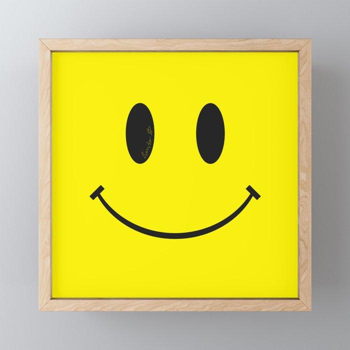 Smiley Framed Mini Art Print