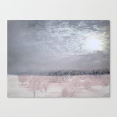 Moonlight's abstention ~ Winter abstract Canvas Print