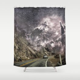 Space gazing Highway One Shower Curtain