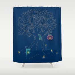Magic tree and candles Shower Curtain