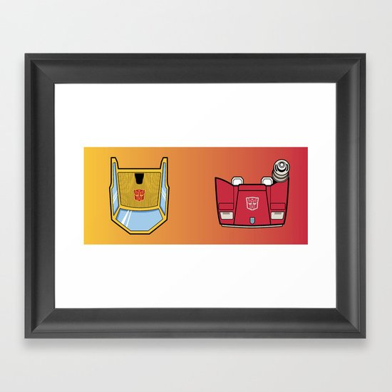 Transformers - Sunstreaker and Sideswipe mug request Framed Art Print
