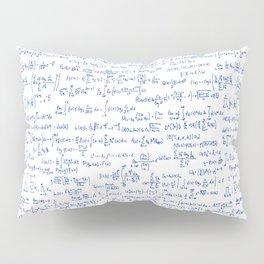 Blue Math Equations Pillow Sham