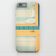 Beach Hut window- orange Slim Case iPhone 6s