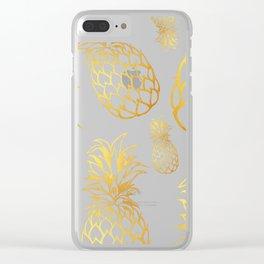tropical rain Clear iPhone Case