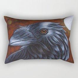 RAVEN CROW AUTUTMN NIGHT PAINTING Rectangular Pillow