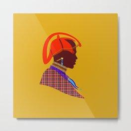 kenyan massai warrior artwork atalanta creatives design Metal Print