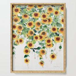 Sunflowers and Eucalyptus Garland  Serving Tray