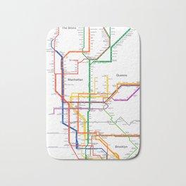 New York City subway map Bath Mat