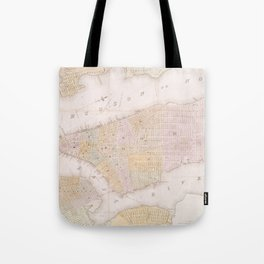 Vintage Map of New York City (1845) Tote Bag