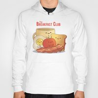 breakfast club Hoodies featuring The Breakfast Club by According to Devin