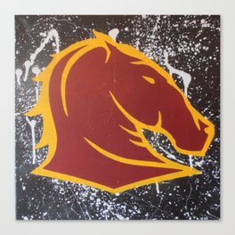 Broncos Supporter  Canvas Print