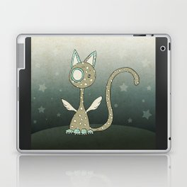 Winged polka-dotted beige cat and stars Laptop & iPad Skin