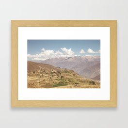 Colca canyon in Arequipa Peru Framed Art Print