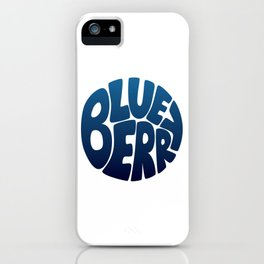 Typo' Blueberry iPhone Case