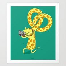 A Giraffe Photographer Art Print