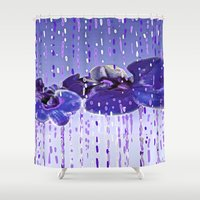 orchid Shower Curtains featuring Orchid by Saundra Myles
