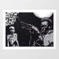miles davis Art Prints featuring MILES by NICHOLAS PRICE ART PRINTS