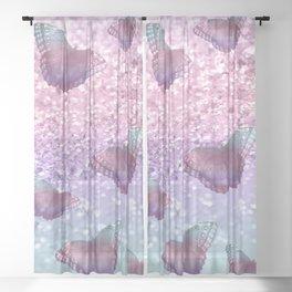 Pastel Unicorn Butterfly Glitter Dream #1 #shiny #decor #art #society6 Sheer Curtain