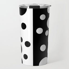 Black and White Spotted Design Travel Mug