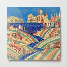 Village on the Hill Metal Print