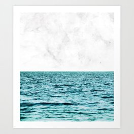 Ocean + Marble || #society6 #decor #buyart Art Print