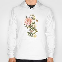 vintage floral Hoodies featuring Vintage floral watercolor background by Anna Yudina