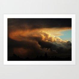 angry cloud Art Print