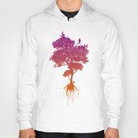 splatter Hoodies featuring Splatter Tree by CoryFreemanDesign
