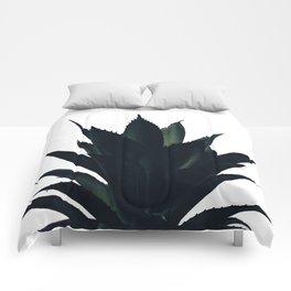 Aloe Vera Dark Green Comforters