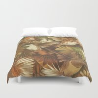birds Duvet Covers featuring Red-Throated, Black-capped, Spotted, Barred by Teagan White