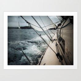 Yacht Race Art Print