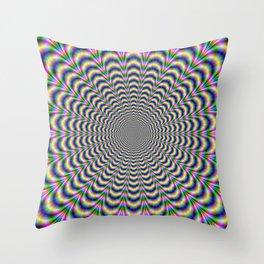 Neon Pulse Throw Pillow