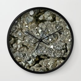 Pyrite Geode Wall Clock