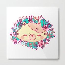 Floral Lulu Metal Print