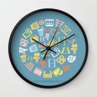 cinema Wall Clocks featuring Cinema circle by aleksander1